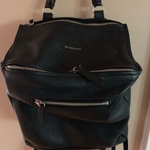 GIVENCHY PANDORA BACKPACK IN GRAINED LEATHER